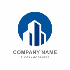 Building Shape Architecture Real Estate Tower Vector Logo Template