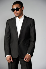 Attractive African American Male in A Suit