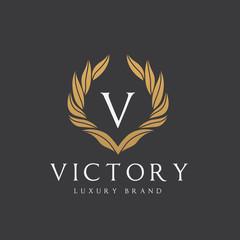 Victory Logo template. hotel logo. Luxury brand identity