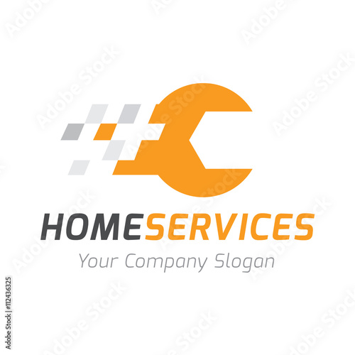 quothome services logo home fix logo templatequot stock image