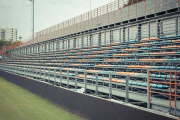 Football stadium with seats
