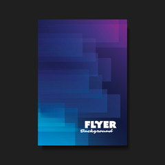 Flyer or Cover Design with Abstract Background