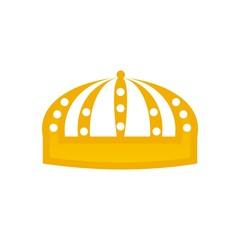 design logo crown gems gold majestic kingdom design