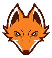 Fox head sport mascot. Logotype. Label