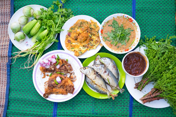 food of native. northeast Thailand