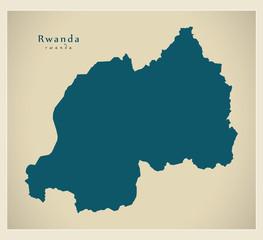 Modern Map - Rwanda RW