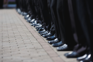 Boot row of cadets
