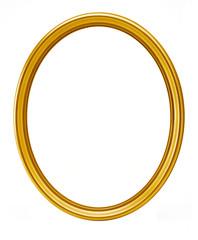 golden oval frame