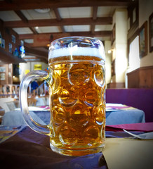 a liter of light beer