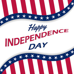 Vector background for US Independence Day.