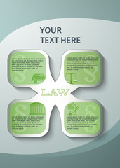 design element page booklet style infographics law