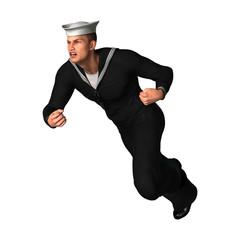 3D Rendering Seaman on White