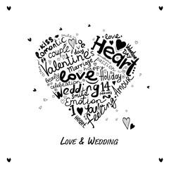 Valentine heart sketch for your design