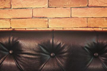 Vintage brown leather sofa