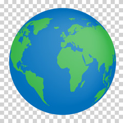 Wall Mural - Vector planet Earth icon