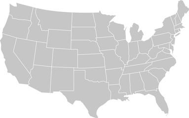 Wall Mural - USA map