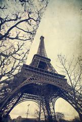 Eiffel tower - vintage photo