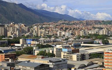 Skyline of Caracas city, capital city of Venezuela.