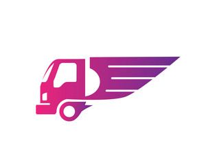 Delivery Logo Symbol - Wing Logistic