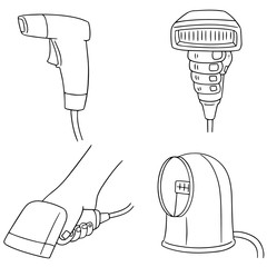 vector set of barcode reader