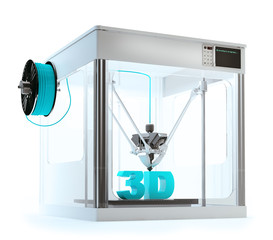 3D printer machine printing