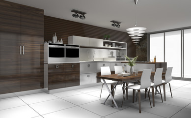 moderne Küche Einbauküche Systemküche Küchenzeile