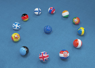 UK referendum on the exit from the European Union. 3d illustration 9