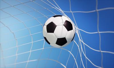 Klassischer Fußball im Tor-Netz