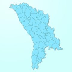 Moldova blue map on degraded background vector