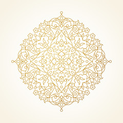 Vector circle pattern in Eastern style.