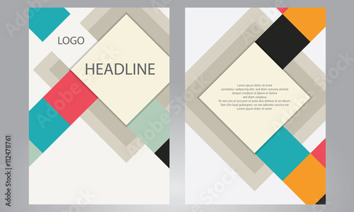 brochure design template geometric shapes abstract modern