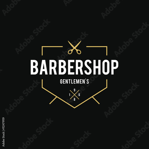 quotvintage barber shop logoquot stock image and royaltyfree