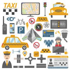 Taxi icon. Flat design