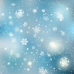 Christmas winter snowflake background