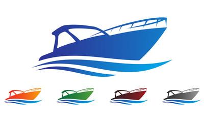 boat logo vector