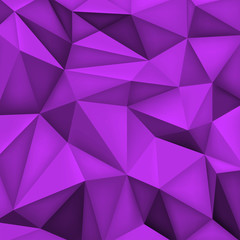 Low polygon shapes background, triangles mosaic, vector design, creative background, templates design, purple wallpaper