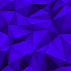 Low polygon shapes background, triangles mosaic, vector design, creative background, templates design, blue wallpaper