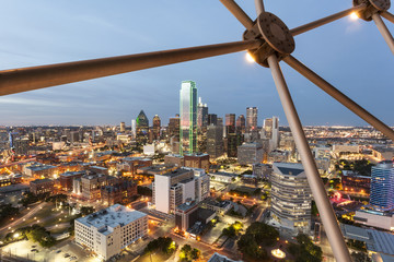 Dallas Downtown at night