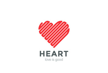 Heart Logo Linear vector. Valentines Day Infinity Love icon