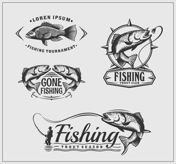 Fishing labels.