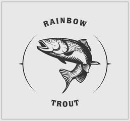 Illustration of rainbow trout.