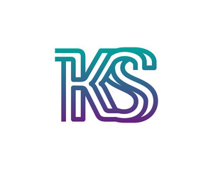 KS lines letter logo