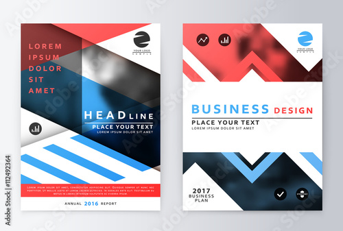 Annual Report Brochure Business Plan Flyer Design Template - Business plan design template