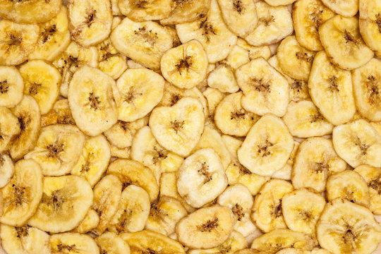 Banana chips for background