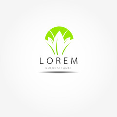 Natural logo design vector template on white background