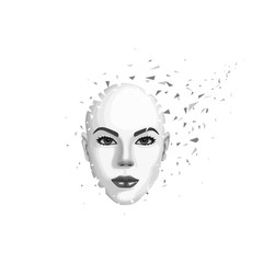 Abstract woman's face
