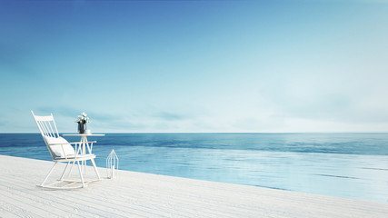 rocking chair - beach lounge - Sundeck on Sea view for 