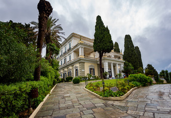 Achilleion is a palace built in Gastouri, Corfu by Empress of Austria Elisabeth of Bavaria, also known as Sisi, after a suggestion by Austrian Consul Alexander von Watzberg