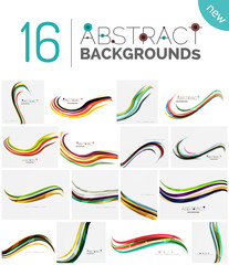 Collection of wave abstract backgrounds