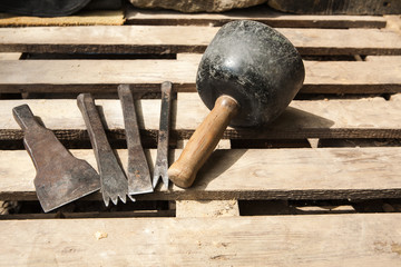 Werkzeug zur Sandsteinbearbeitung